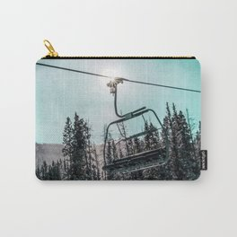 Empty Skilift // Dark Blue and Teal Snowboarding Dreaming of Winter Carry-All Pouch