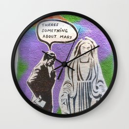 Melbourne Graffiti Street Art There's Something about Mary Wall Clock