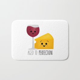 Aged To Perfection - Wine & Cheese Bath Mat