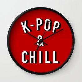 K-Pop & Chill Wall Clock