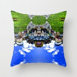 Bearded Crystal Bearcat Throw Pillow