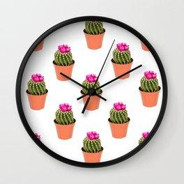 Pink Cactus Multi Wall Clock