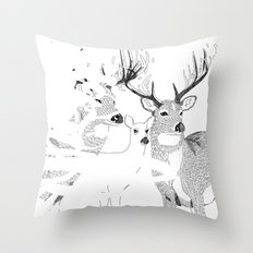 Deers Throw Pillow