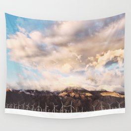 Windmills and Hills Wall Tapestry