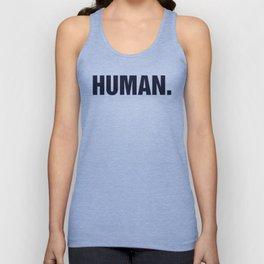 HUMAN. Unisex Tank Top