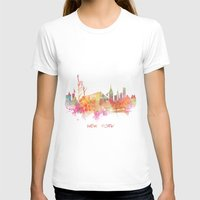 new york skyline T-shirts featuring New York skyline by jbjart
