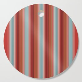 Scandinavian Colours Stripes with Graphic Fiber Texture Cutting Board