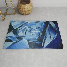 Cubist Portrait of Pablo Picasso: The Blue Period  Rug