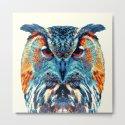 Owl - Colorful Animals by raquelcatalandesigns