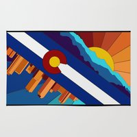 denver Area & Throw Rugs featuring Denver, CO by HighTribe