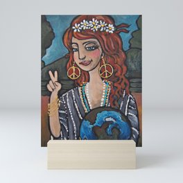 Earth Girl Mini Art Print