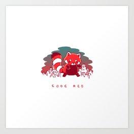 Pandamonium Code Red Art Print