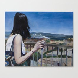 Girl in SF Canvas Print