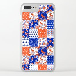 Florida University gators swamp life varsity team spirit college football quilted pattern gifts Clear iPhone Case
