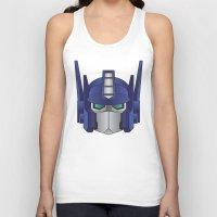 optimus prime Tank Tops featuring Optimus Prime by Tombst0ne