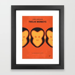 No355 My 12 MONKEYS mmp Framed Art Print