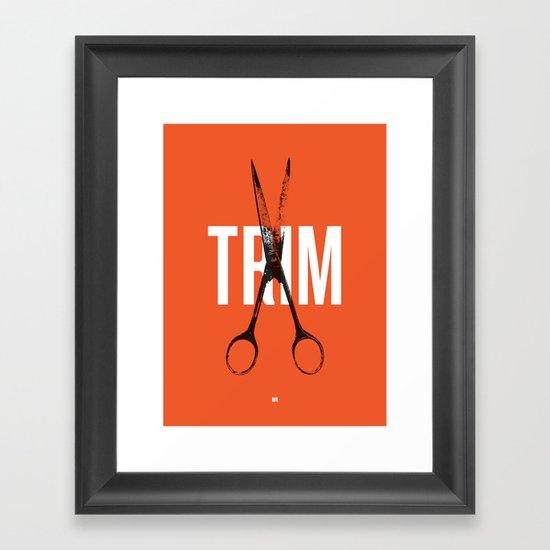 Barbershop Design Ethos / Trim Framed Art Print