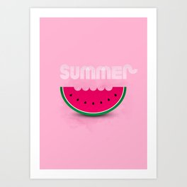Summer melon Art Print