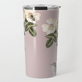 Birds and the Bees Pink Berry Travel Mug