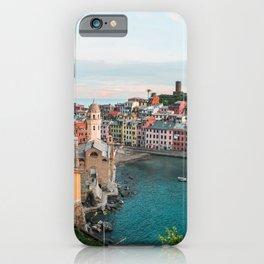 Vernazza, Italy (Portrait) iPhone Case