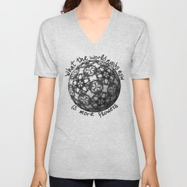 Flower World Unisex V-Neck