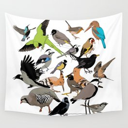 color birds Wall Tapestry