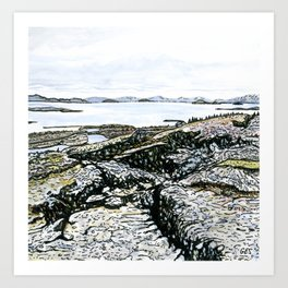 Þingvellir, Iceland Art Print