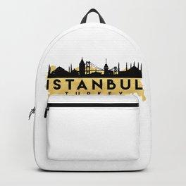 ISTANBUL TURKEY SILHOUETTE SKYLINE MAP ART Backpack