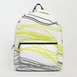 Yellow & Greay decor Backpack
