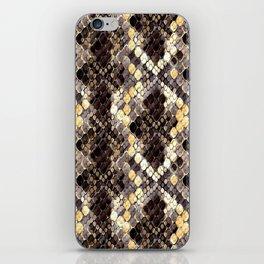 The pattern of snake skin. iPhone Skin