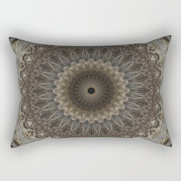 Mandala in warm brown and gray tones Rectangular Pillow