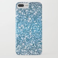 Night Blue Glitters Sparkles Texture Slim Case iPhone 7 Plus