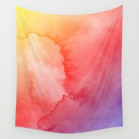 gradient Wall Tapestries featuring Watercolor Gradient by Andre D