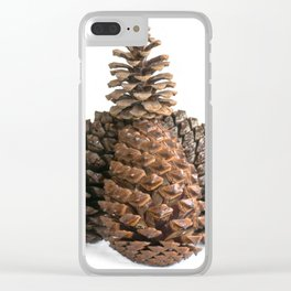 Group of pinecones Clear iPhone Case