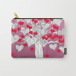 tree of love with hearts Carry-All Pouch