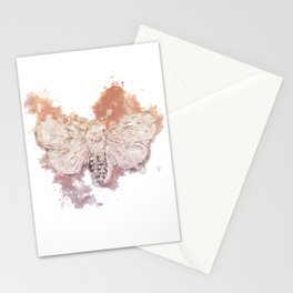 Moth Guided by Lunar Passion Stationery Cards