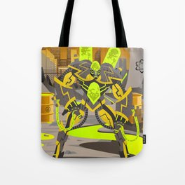 radioactive giant toxicrobot in power plant Tote Bag
