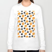 halloween Long Sleeve T-shirts featuring Halloween by cat&wolf