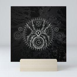 White Mechanical Spider Mini Art Print