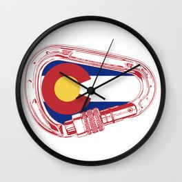 Colorado Climbing Carabiner Wall Clock
