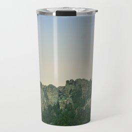 Mount Rushmore Sunset Travel Mug