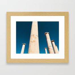 The columns of Delos Framed Art Print