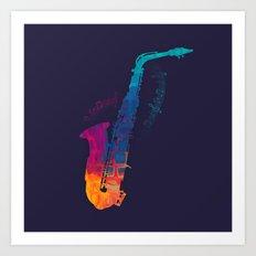 Sax Color Art Print