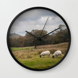 Storms and sheep Wall Clock