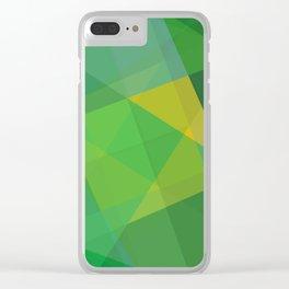 Polygon print bright colors #society6 #decor #buyart #artprint Clear iPhone Case