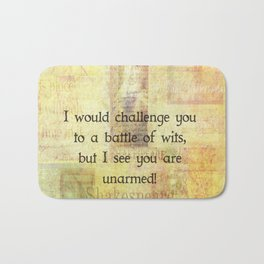Funny Shakespeare Quote Bath Mat