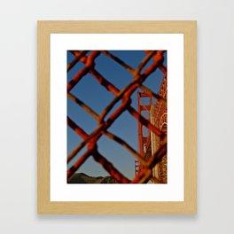 Security Comes First - Golden Gate Bridge Framed Art Print