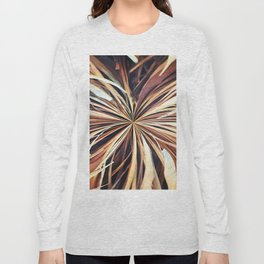 356 - Abstract Palm Fronds Design Long Sleeve T-shirt