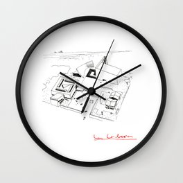 Le Corbusier The Architect Wall Clock