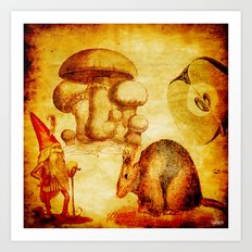 The sprite and the mouse Art Print
